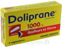 DOLIPRANE 1000 mg Suppositoires adulte 2Plq/4 (8) à VERNON
