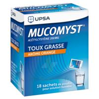 MUCOMYST 200 mg Poudre pour solution buvable en sachet B/18 à VERNON