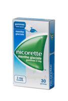 NICORETTE 2 mg Gom à mâcher médic sans sucre menthe glaciale Plq/30gom à VERNON