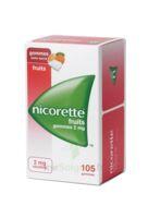 Nicorette 2 mg Gomme à mâcher médicamenteuse sans sucre fruits Plq/105 à VERNON