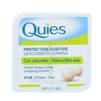QUIES PROTECTION AUDITIVE CIRE NATURELLE 8 PAIRES à VERNON