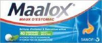 MAALOX HYDROXYDE D'ALUMINIUM/HYDROXYDE DE MAGNESIUM 400 mg/400 mg Cpr à croquer maux d'estomac Plq/40 à VERNON