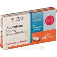 IBUPROFENE TEVA CONSEIL 400 mg, comprimé pelliculé à VERNON