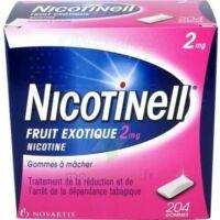 NICOTINELL FRUIT EXOTIQUE 2 mg, gomme à mâcher médicamenteuse Plq/204 à VERNON