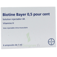 BIOTINE BAYER 0,5 POUR CENT, solution injectable I.M. à VERNON