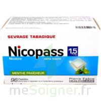 Nicopass 1,5 mg Pastille sans sucre menthe fraîcheur Plq/96 à VERNON