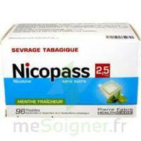 Nicopass 2,5 mg Pastille menthe fraîcheur sans sucre Plq/96 à VERNON