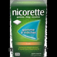 Nicorette 2 mg Gomme à mâcher médicamenteuse sans sucre fruits Plq/30 à VERNON