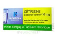 CETIRIZINE BIOGARAN CONSEIL 10 mg, comprimé pelliculé sécable à VERNON