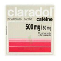 CLARADOL CAFEINE 500 mg/50 mg, comprimé effervescent à VERNON