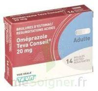 OMEPRAZOLE TEVA CONSEIL 20 mg Gél gastro-rés Plq/14 à VERNON