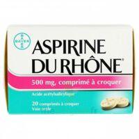 ASPIRINE DU RHONE 500 mg, comprimé à croquer Film thermos/20 à VERNON
