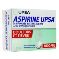 ASPIRINE UPSA TAMPONNEE EFFERVESCENTE 1000 mg, comprimé effervescent à VERNON