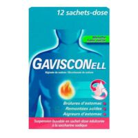 GAVISCONELL Suspension buvable sachet-dose menthe sans sucre 12Sach/10ml à VERNON