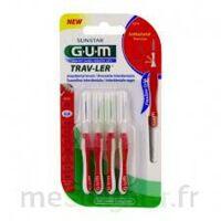 GUM TRAV - LER, 0,8 mm, manche rouge , blister 4 à VERNON
