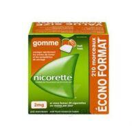 Nicorette 2 Mg Gomme à Mâcher Médicamenteuse Sans Sucre Fruits Plq/210 à VERNON