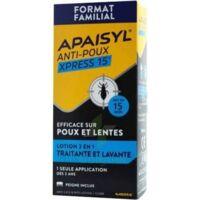 Apaisyl Anti-poux Xpress 15' Lotion Antipoux Et Lente 100ml+peigne à VERNON