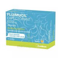 FLUIMUCIL EXPECTORANT ACETYLCYSTEINE 600 mg Glé s buv adultes 10Sach à VERNON